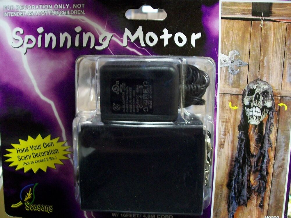 Electric spinning motor for hanging halloween props for Electric motors for halloween props