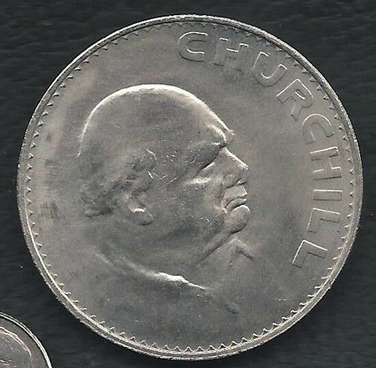 1965 Uk Crown Commemorative Coin Winston Churchill One