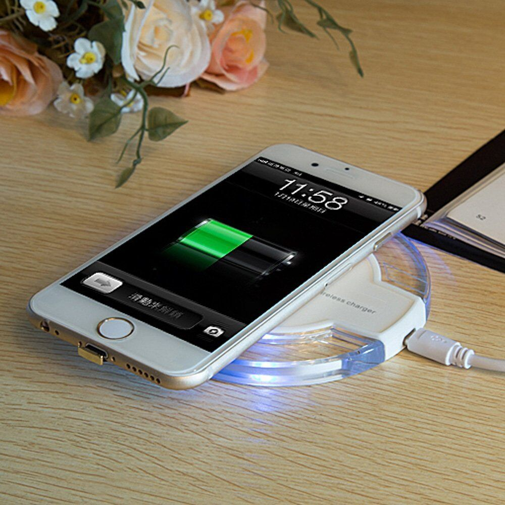 Qi Wireless Fast Charger Pad Receiver for Apple Iphone