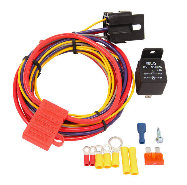 qft racing 30 amp electric fuel pumps wiring kit 12 16 and 24 volt ebay
