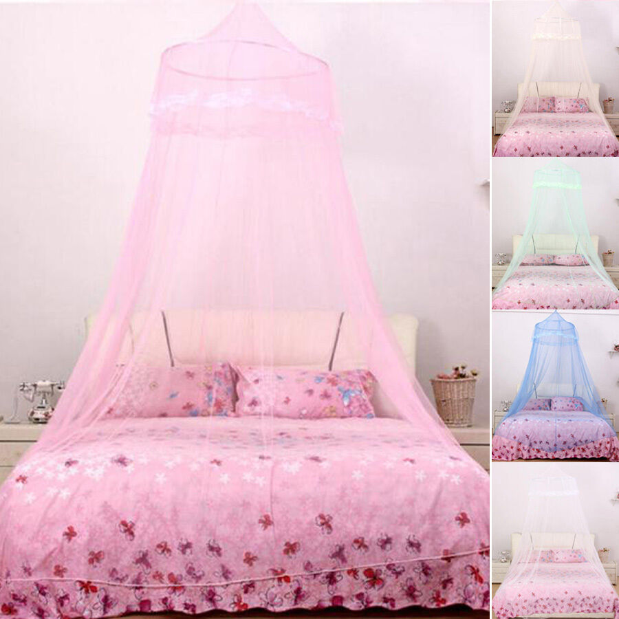 Lace dome bed decor mosquito nets house tent bed canopy for Bed with mosquito net decoration