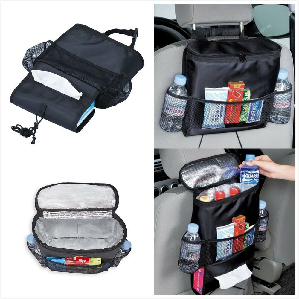 1p picnic backpack car seat organizer insulated drinks cooler travel storage bag ebay. Black Bedroom Furniture Sets. Home Design Ideas