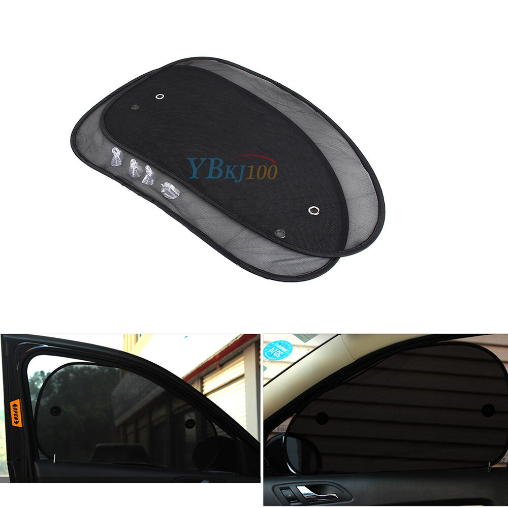 2pcs car side rear window sun shade cover shield sunshade uv protection ebay. Black Bedroom Furniture Sets. Home Design Ideas