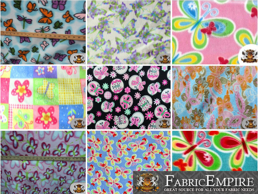 polar fleece printed fabric butterflies 60 wide sold by the yard ebay. Black Bedroom Furniture Sets. Home Design Ideas