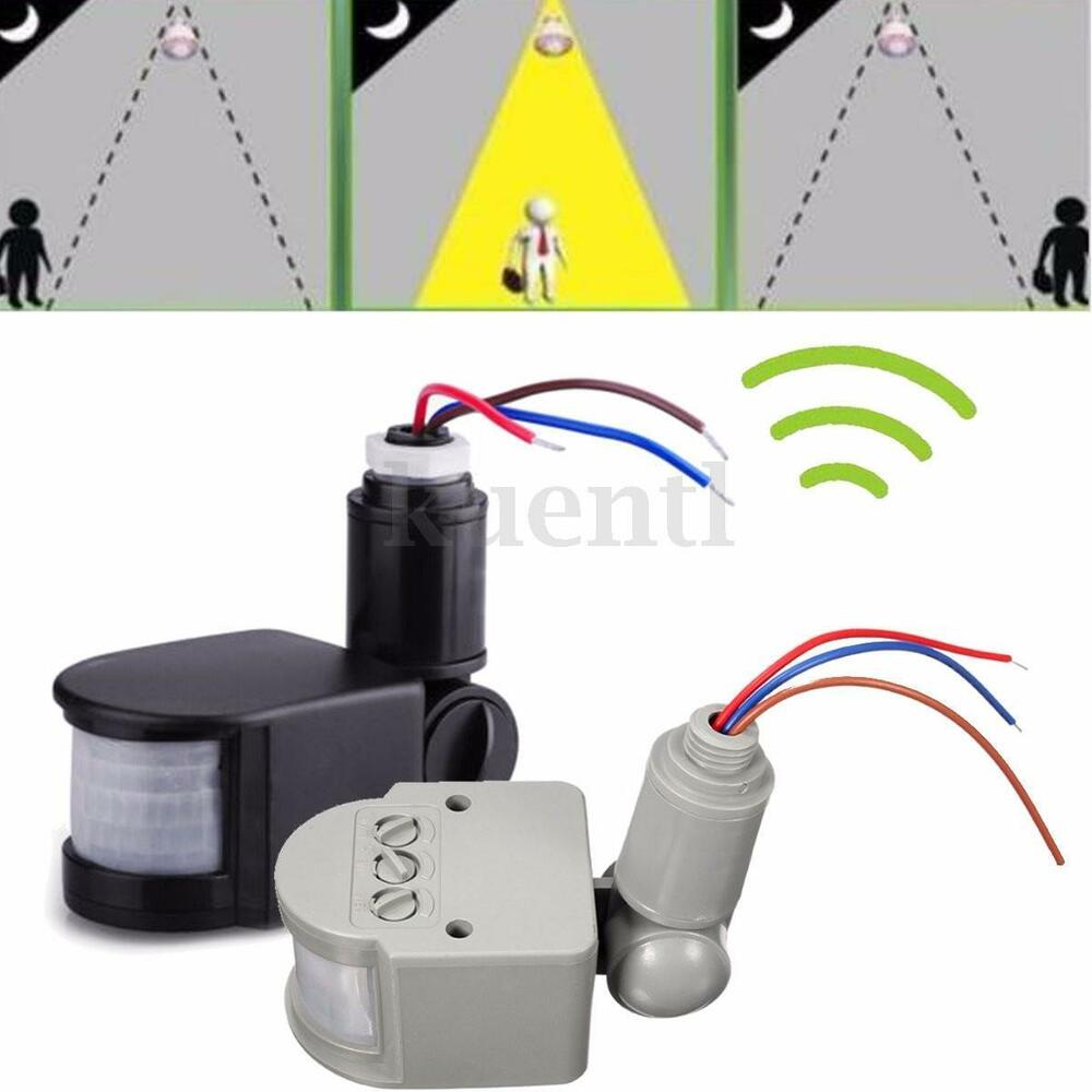 180 12m Outdoor Security Pir Infrared Motion Sensor Detector Switch Led Light Ebay