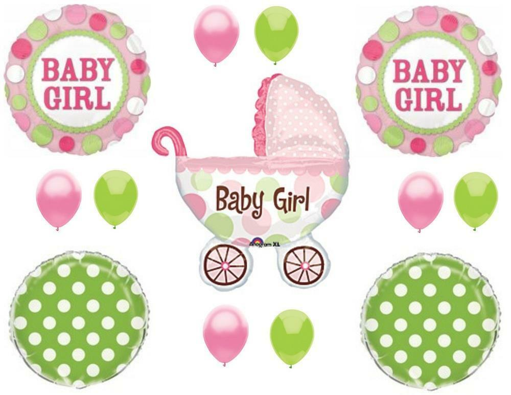 It 39 s a girl buggy carriage baby shower balloons decoration for It s a girl dekoration