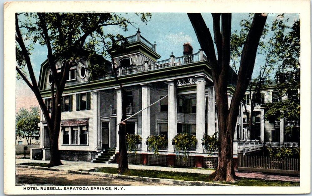 Saratoga springs new york postcard hotel russell street for Hotels saratoga springs new york
