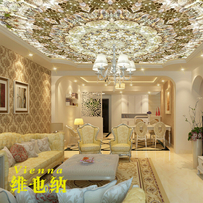 Condole top wallpaper 3 d sitting room the bedroom ceiling for Ceiling mural in smokers lounge