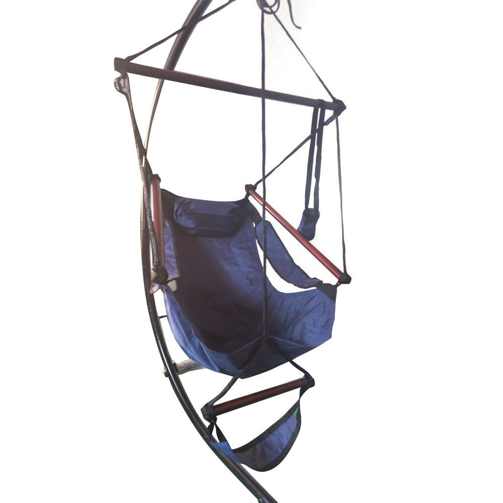 Hammock hanging chair air deluxe sky swing outdoor chair for Hanging chair images