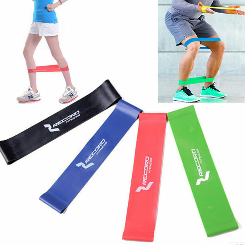 Exercise Bands Loops: Yoga Sport Resistance Loop Rubber Band Exercise Training