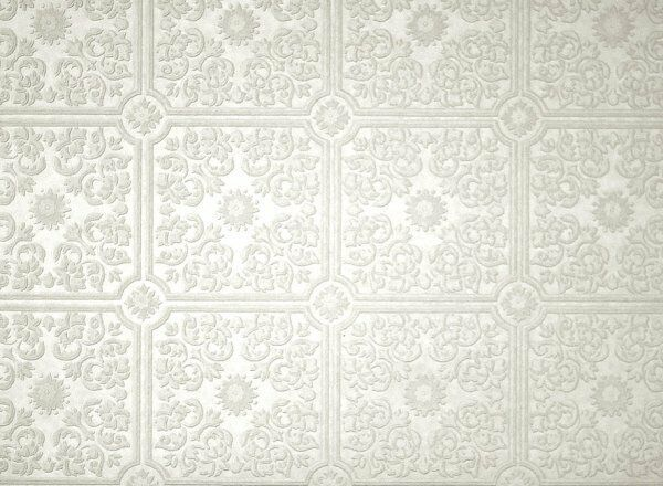 Brewster wallcoverings tin ceiling motif paintable white - Textured wallpaper on ceiling ...