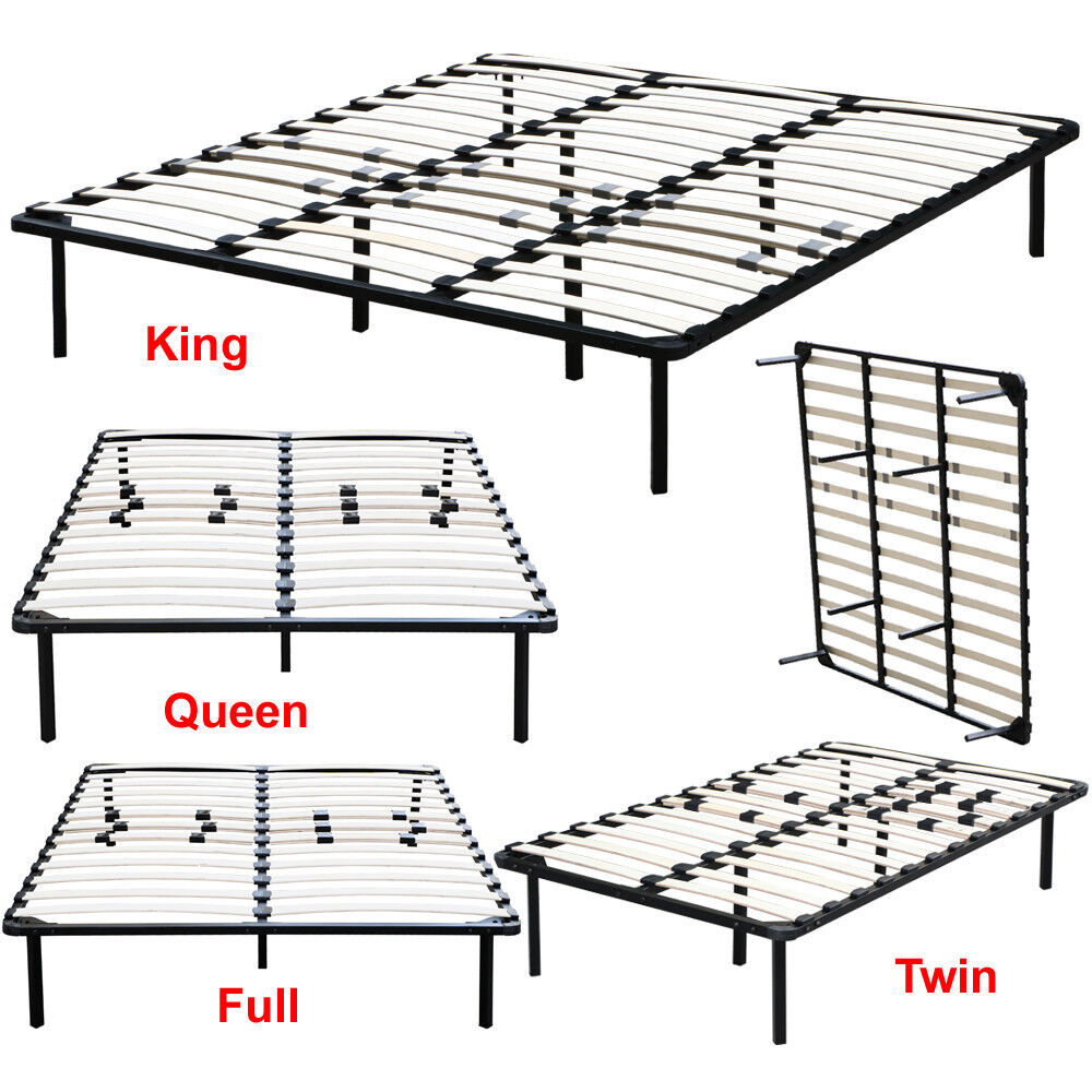 Bedroom metal platform bed frame twin full queen king size for Twin mattress and frame