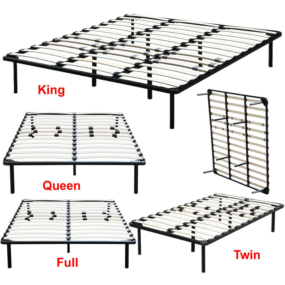 bedroom metal platform bed frame twin full queen king size mattress foundation ebay. Black Bedroom Furniture Sets. Home Design Ideas