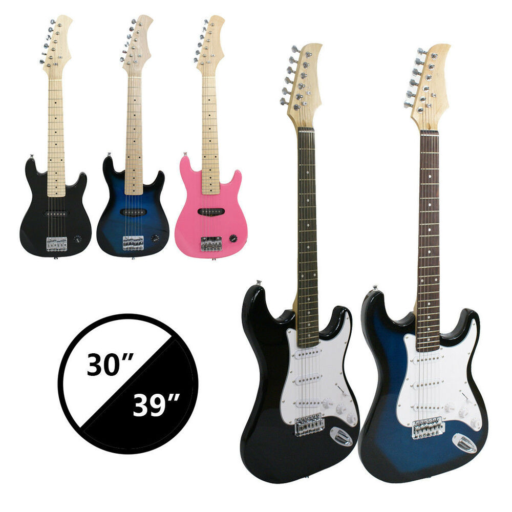 30 39 full size electric guitar 5w 10w amp strap cord gigbag new beginner ebay. Black Bedroom Furniture Sets. Home Design Ideas