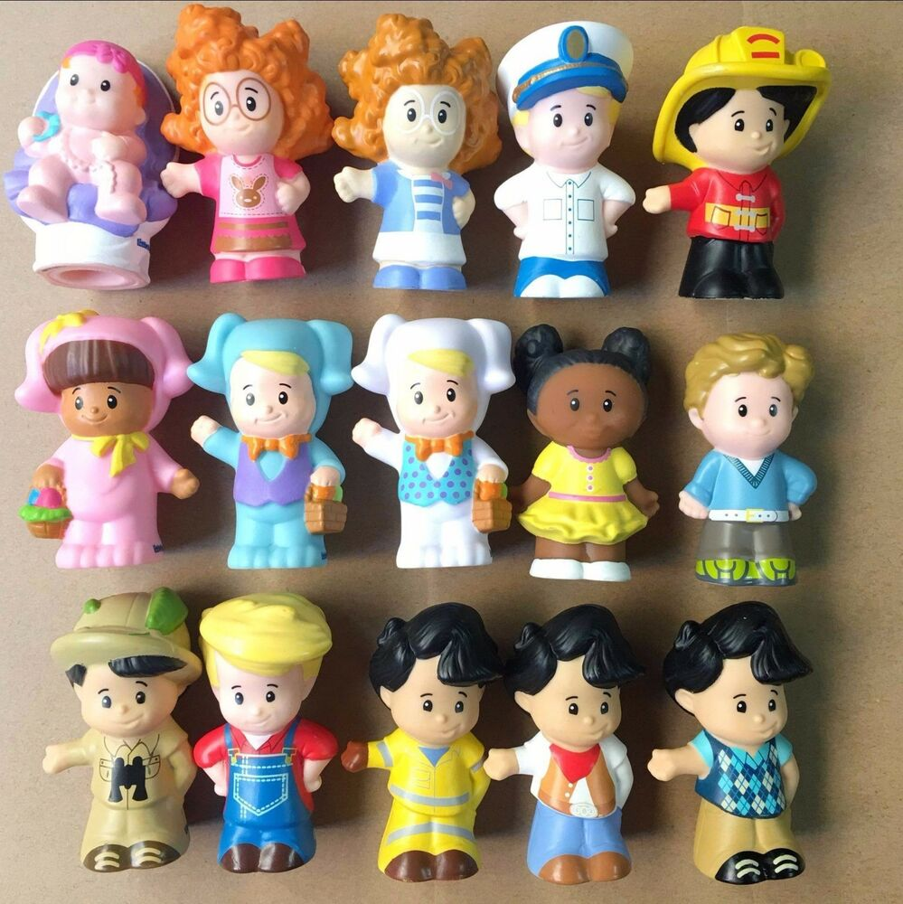 15pcs lot fisher price little people 2 5 39 39 figures girl boy baby toy doll gift ebay. Black Bedroom Furniture Sets. Home Design Ideas