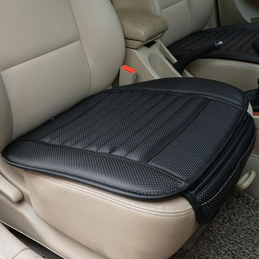car seat covers black pu leather bamboo strips pad mat auto office chair cushion ebay. Black Bedroom Furniture Sets. Home Design Ideas
