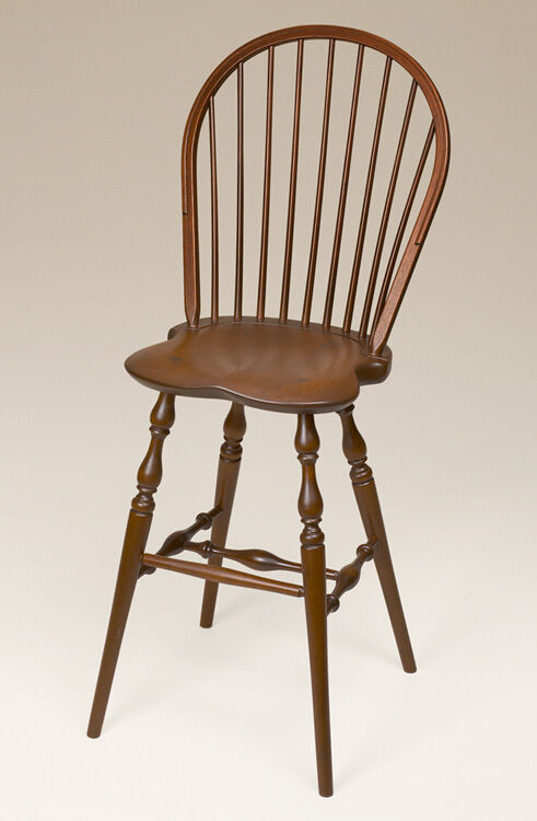 Cherry Wood Barstool Windsor Early American Style Bar
