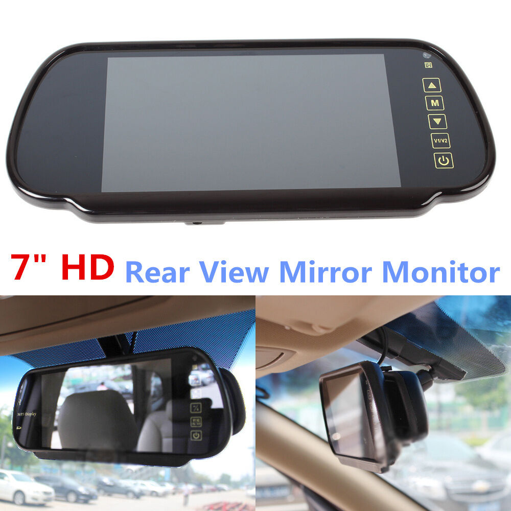 car reverse view backup camera dvd mirror monitor 7 lcd. Black Bedroom Furniture Sets. Home Design Ideas