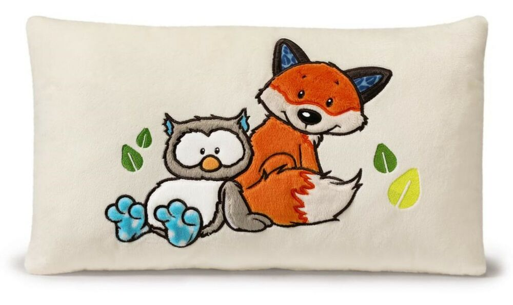 nici forest friends eule fuchs kissen 43x25cm pl sch cushion geschenk 39628 ebay. Black Bedroom Furniture Sets. Home Design Ideas