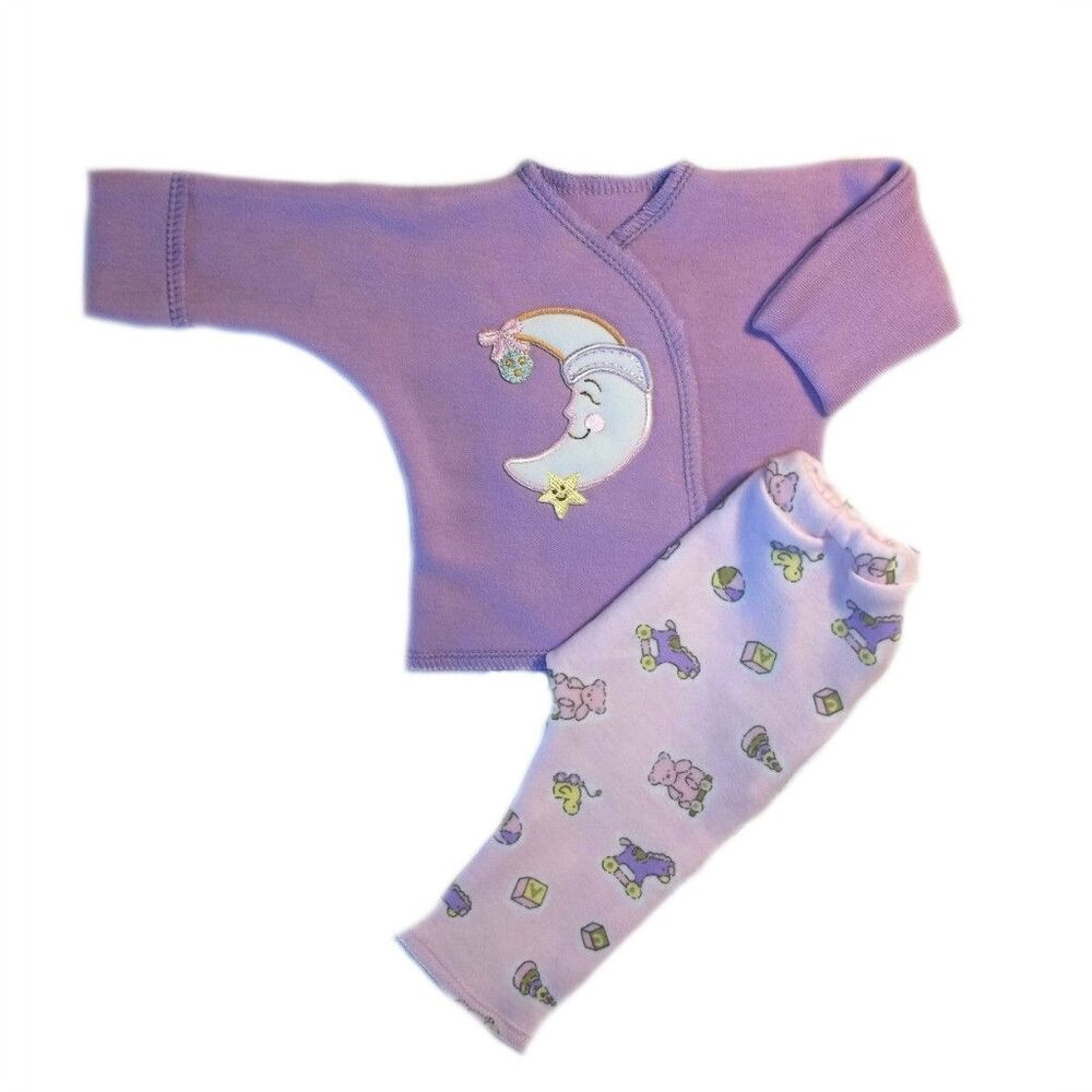 Baby Girls Smiling Moon Two Piece Clothing Set 4 Sizes