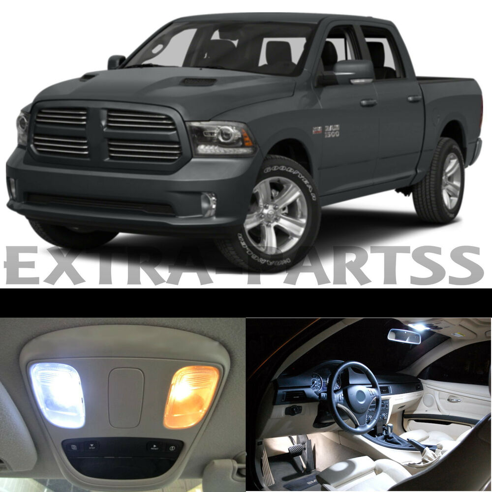 17x White Interior Led Lights Package Kit Dome Map Us For 2015 Dodge Ram 1500 Ebay