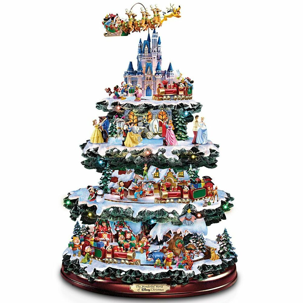 Disney lighted musical christmas tree tabletop sculpture Christmas table top decorations
