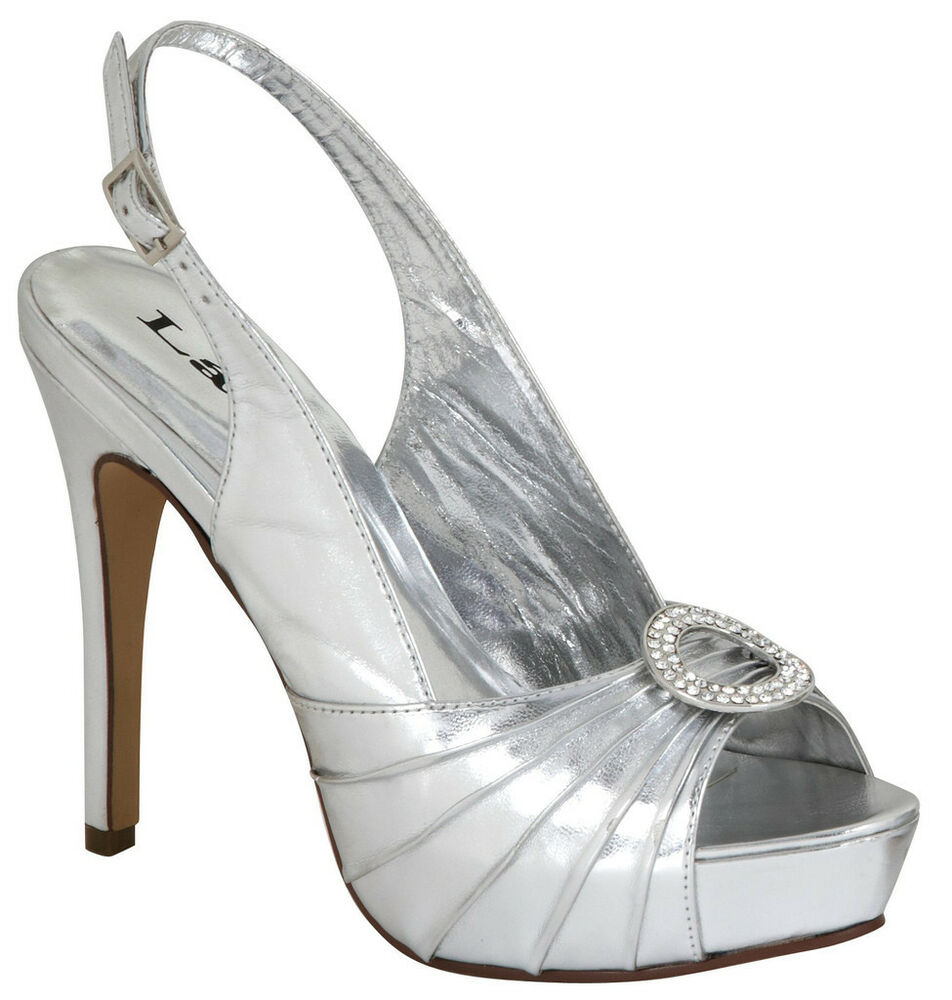 Silver Shoe For Ladies Size