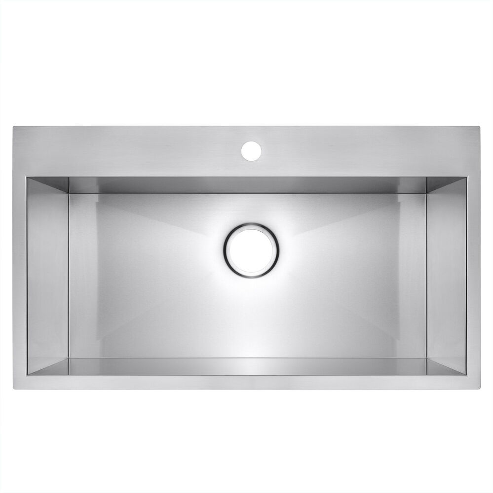 kitchen sink single bowl top mount 18 quot x 30 quot x 9 quot topmount drop in single bowl basin 9568