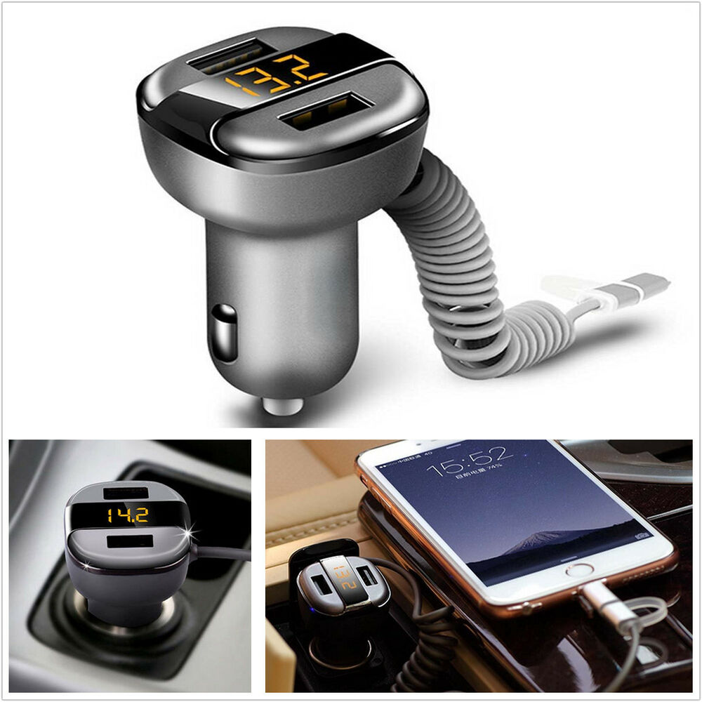 Car dual usb fast charger 3 4a with voltage current for Ebay motors app for android