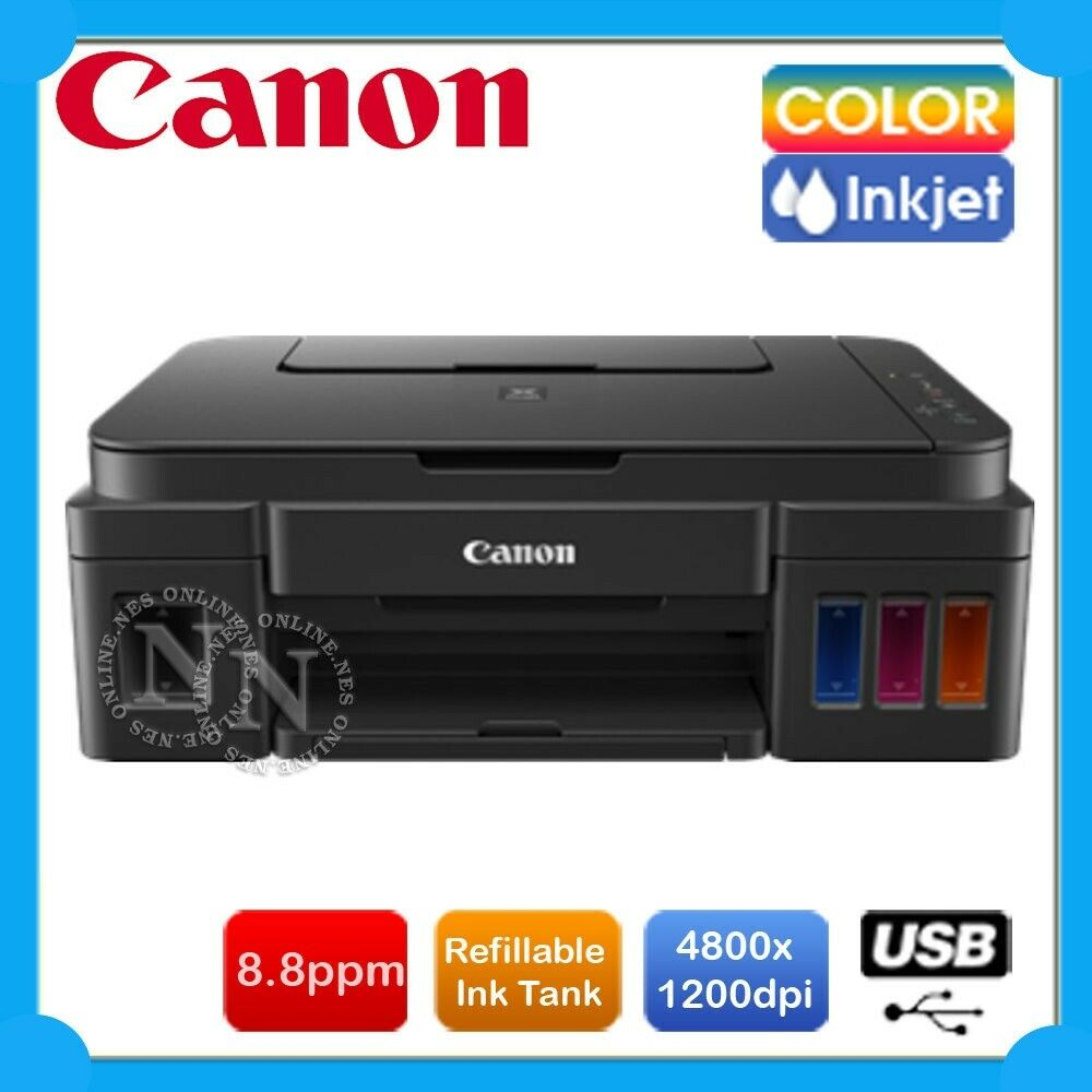 Canon PIXMA G2600 3 In 1 Refillable CISS Color Ink Tank System USB MFP Printer