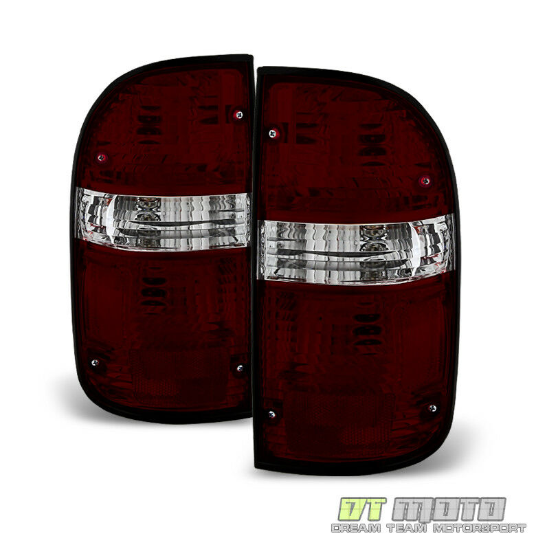 2001 2004 toyota tacoma red smoked tail lights brake lamp left right. Black Bedroom Furniture Sets. Home Design Ideas