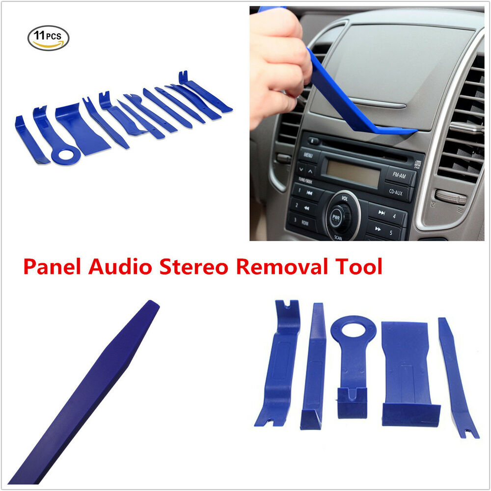 11 blue nylon car panel dash audio stereo gps molding trim removal install tools ebay. Black Bedroom Furniture Sets. Home Design Ideas