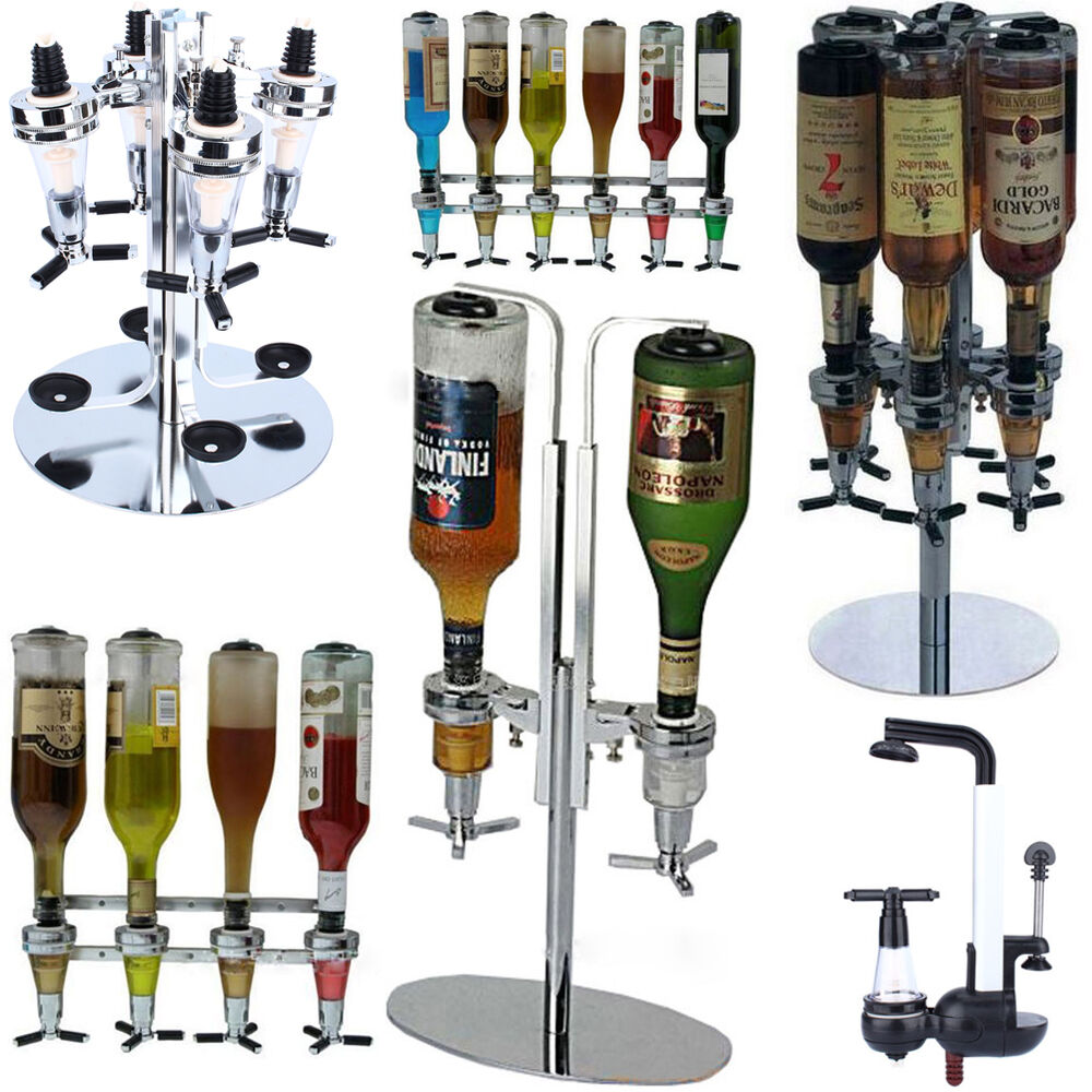 Rotary Wall Mounted Bottle Stand Drinks Optics Dispenser