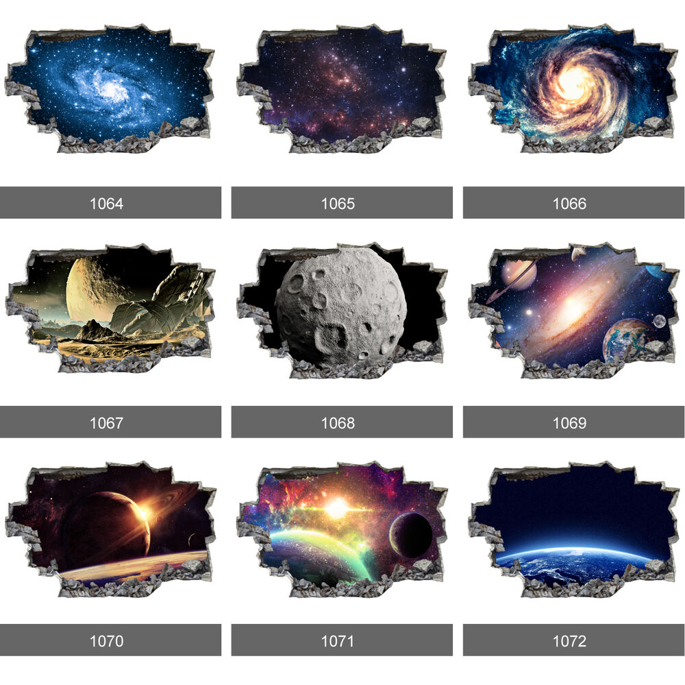 Space Galaxy Stars Planets Universe 3d Wall Mural Photo