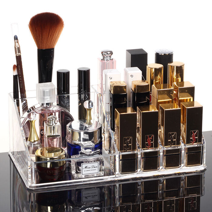 Makeup Case Clear Acrylic 24 Lipstick Holder Display Stand ...
