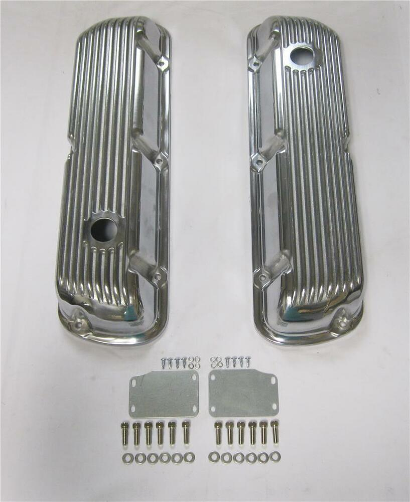 Small Block Ford Sbf 289 302 351w Finned Polished Aluminum