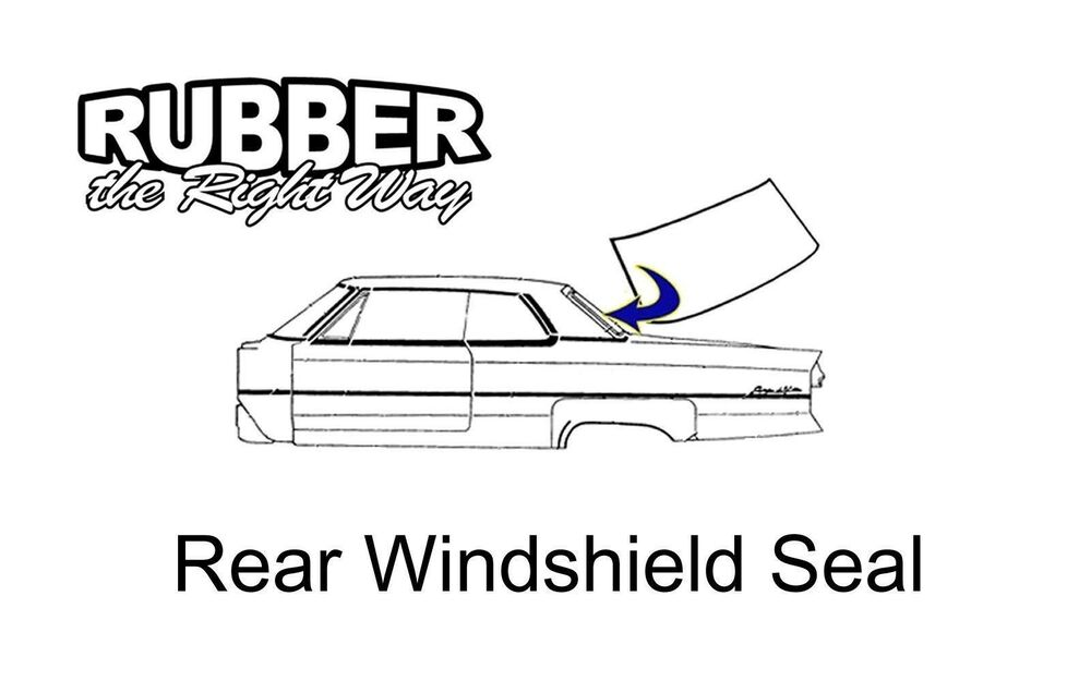 1955 1956 chrysler  u0026 desoto rear window seal