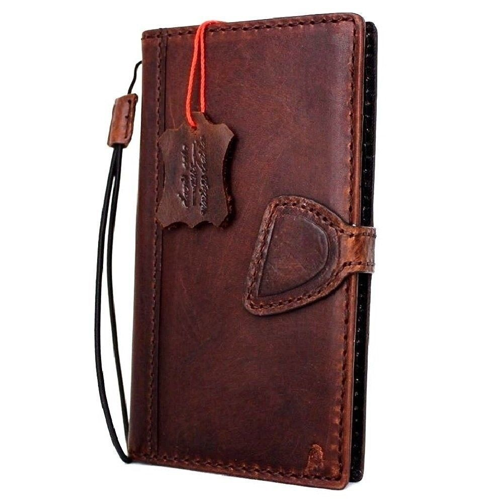 Genuine Vintage Real Leather Case For Apple Iphone 7 Book