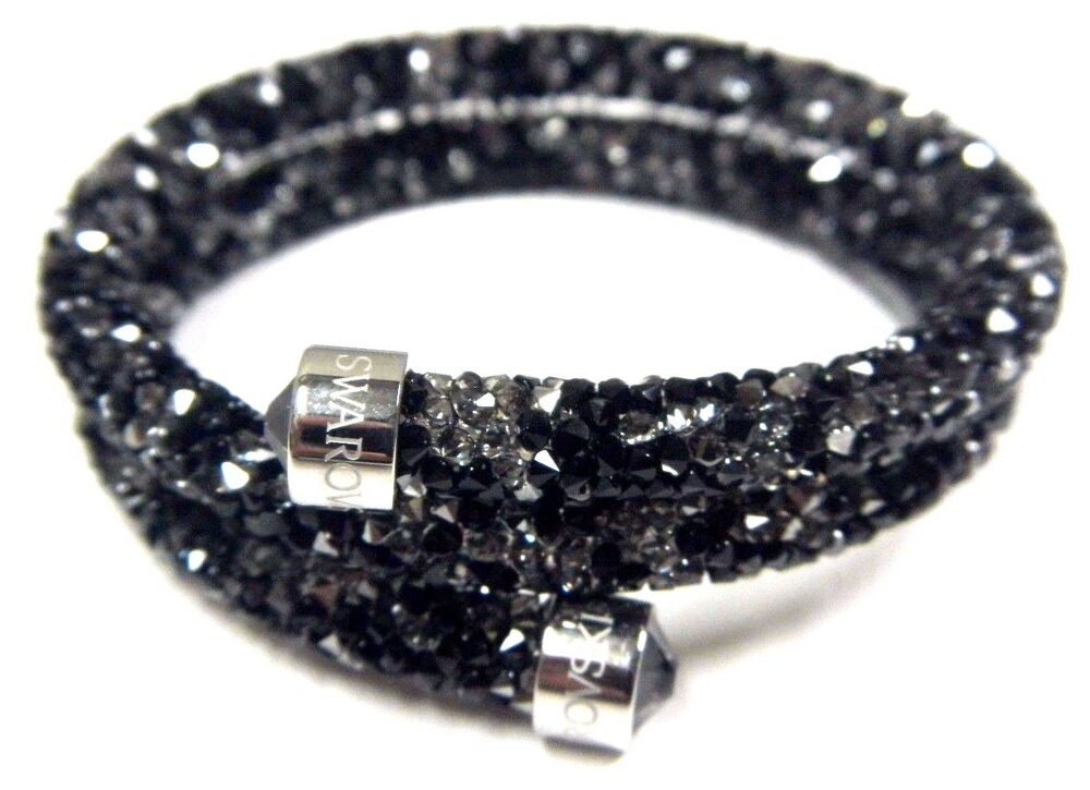 dark crystaldust double bangle bracelet medium 2016 swarovski jewelry 5237757 ebay. Black Bedroom Furniture Sets. Home Design Ideas