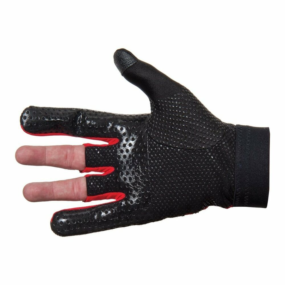 Details about New Brunswick LEFT Hand XL Thumb Saver Glove Black/Red No  Blisters Textured