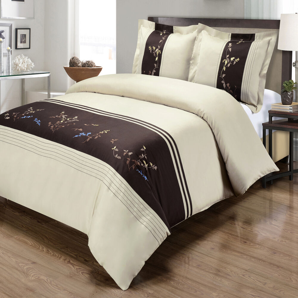 Luxury King Calking Celeste Embroidered Duvet Cover Set