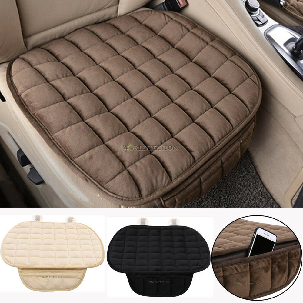 Winter Plush Anti Slip Car Seat Cover Pad Lattice Pattern