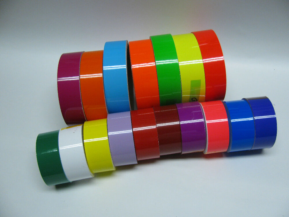 Wide Colored Glossy Vinyl Tape Choose Color And Size