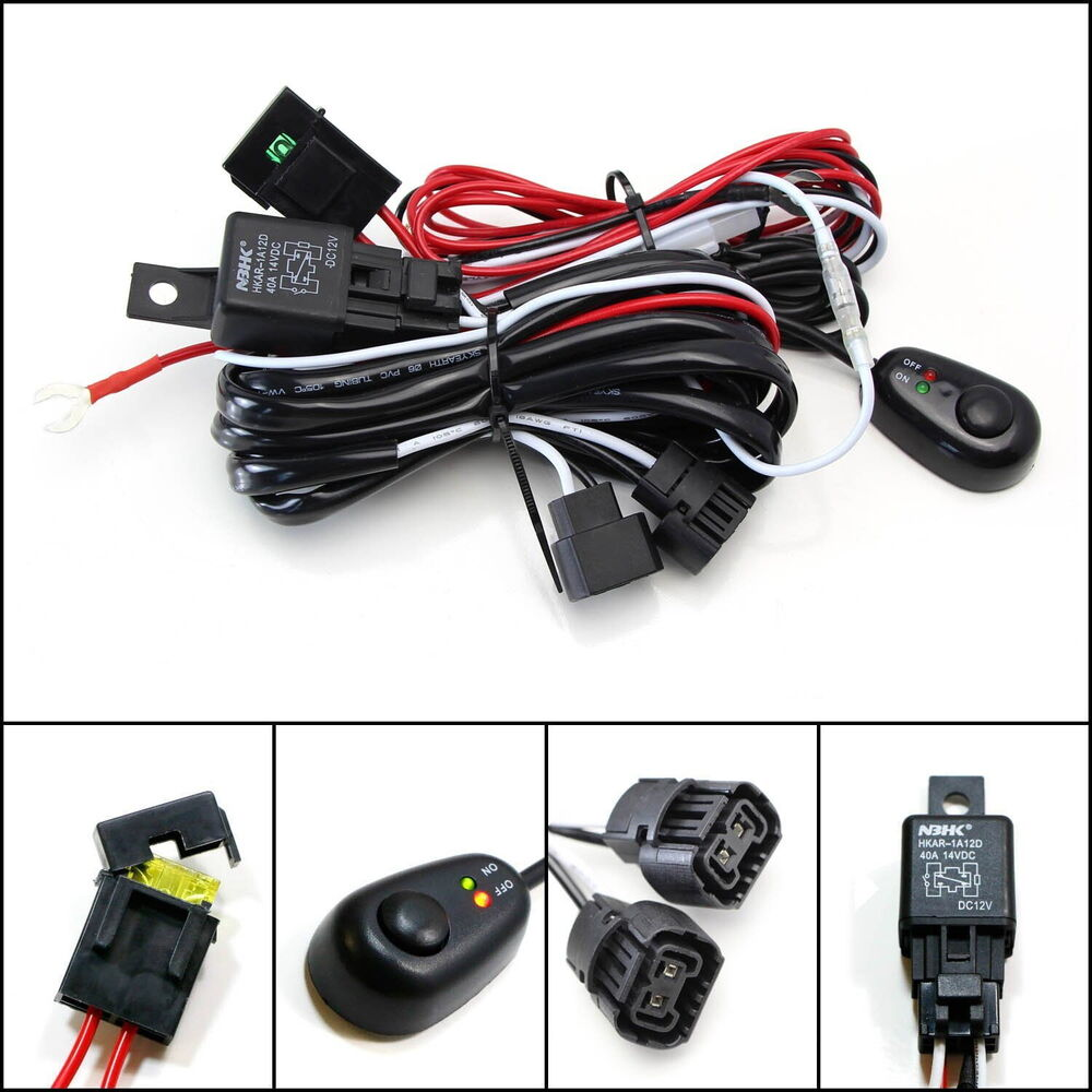 Wiring Diagram For Led Fog Lights Universal Relay Harness Wire Kit