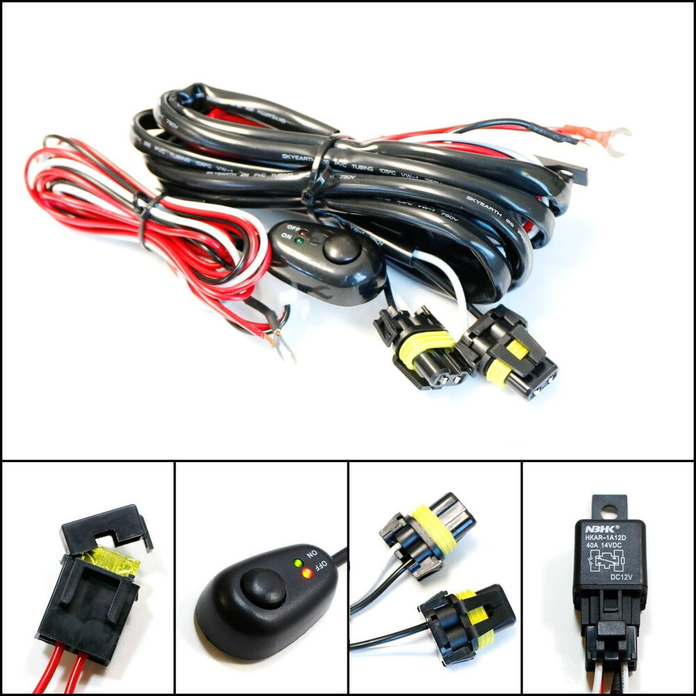9005 9006 relay harness wire kit led on  off switch for fog wiring fog lamps relay wiring fog lamp wira