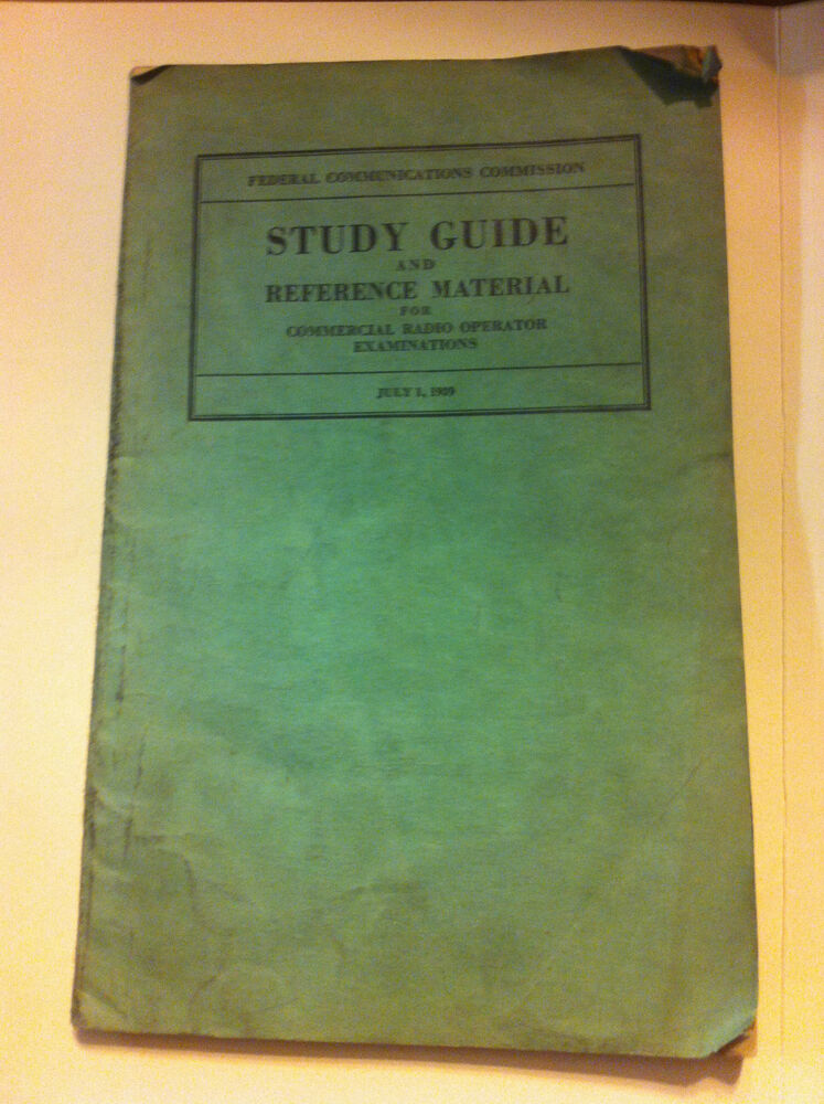 1939 study guide reference material for commercial radio operator rh ebay com general radio operator license study guide radio operator study guide