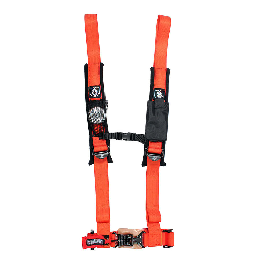Pro Armor Seat Belt Harness 4 Point 2 Quot Padded Orange Can