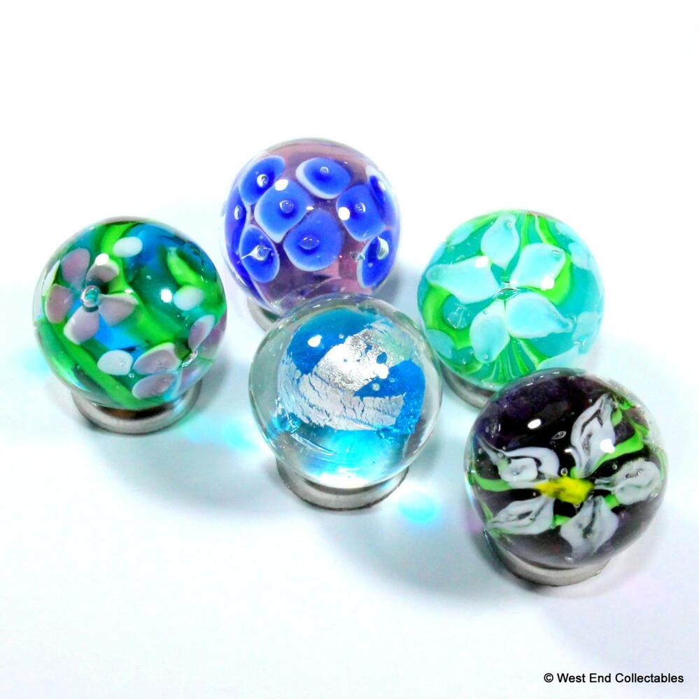 5 X 16mm Translucent Handmade Glass Art Toy Marbles