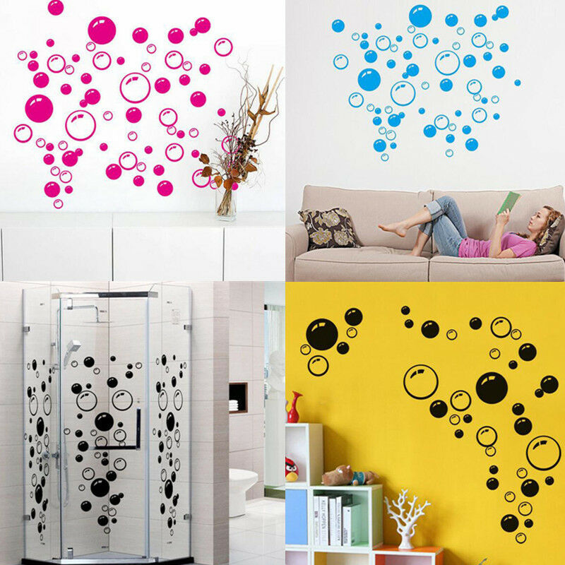 bathroom tile stickers removable removable 86 bubbles wall sticker vinyl mural bathroom 16830