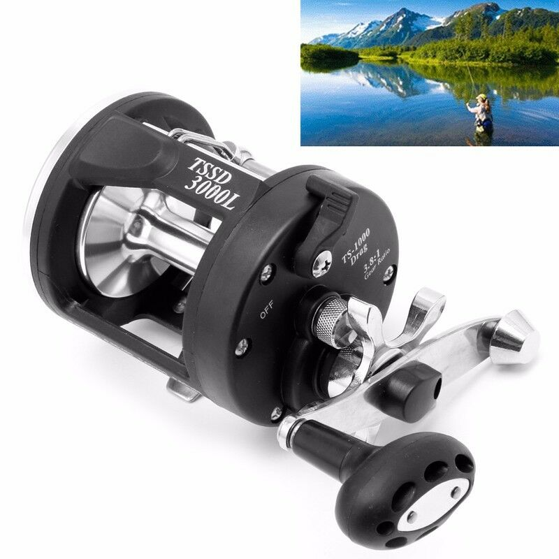 Fishing tackle gear bait casting fishing reels black for Ebay fishing gear